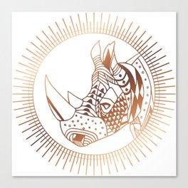 Copper Rhino Canvas Print