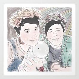 Pastel Dan & Phil Art Print