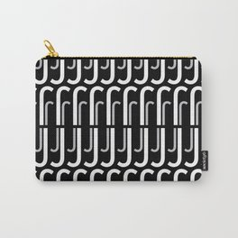 J (Black Background) Carry-All Pouch