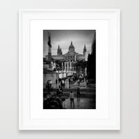 barcelona Framed Art Prints featuring Barcelona by Francesca Vincis