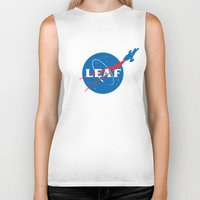 leaf Biker Tanks featuring LEAF by geekchic
