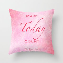 P!nk Galaxy Throw Pillow