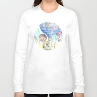 hot air balloon Long Sleeve T-shirts featuring Hot air balloon party by Dreamy Me