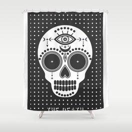 Minimal Tarot Deck The Death Shower Curtain