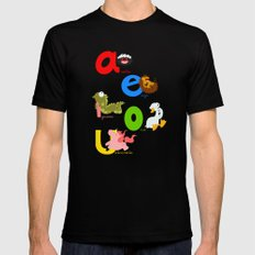 Vowels (spanish) SMALL Black Mens Fitted Tee