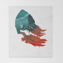 Viking god Throw Blanket