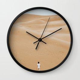 Walk the Desert (Color) Wall Clock