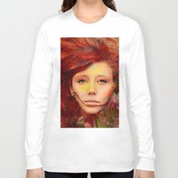 irish Long Sleeve T-shirts featuring Irish fairy by Joe Ganech