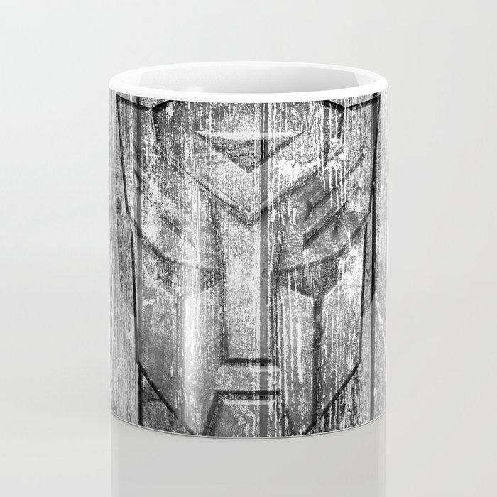 Autobot Monochrome Wood Texture Coffee Mug