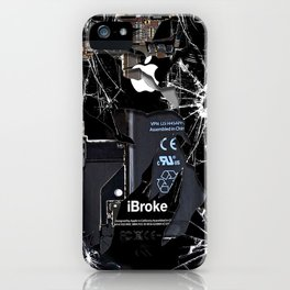 Broken Damaged Cracked out handphone iPhone iPhone Case