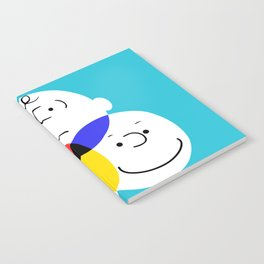 Charlie Brown, colour wheel Notebook