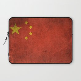 Old and Worn Distressed Vintage Flag of China Laptop Sleeve