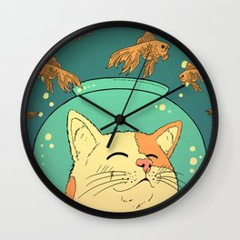 Cat's Dream Wall Clock