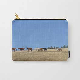 Horses in the Pasture Photography Print Carry-All Pouch