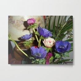 Un bouquet d'anémones Metal Print