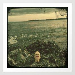 Domo Beach Day Art Print