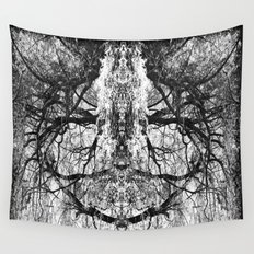 Heart Shaped Branches Nature's Chandelier Wall Tapestry