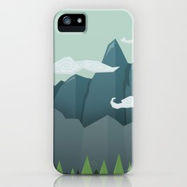 Mountains & Clouds iPhone Case