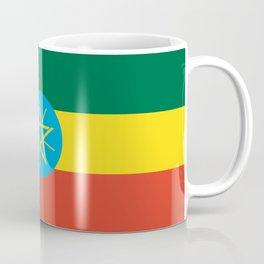 flag of Ethiopia-ኢትዮጵያ, የኢትዮጵያ ,Amharic,  Ethiopian, Addis Ababa. Coffee Mug