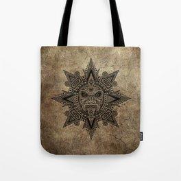 Ancient Stone Mayan Sun Mask Tote Bag