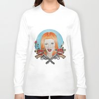 hayley williams Long Sleeve T-shirts featuring Hayley Williams Wanted! by Toma.