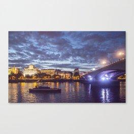 Waterloo bridge (Dusk) London Canvas Print