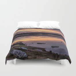 The Derwent Reservoir at sunset Duvet Cover