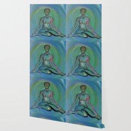 Contentment through Yoga Wallpaper