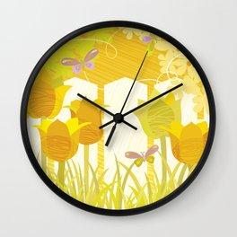Sunny Spring Garden Wall Clock