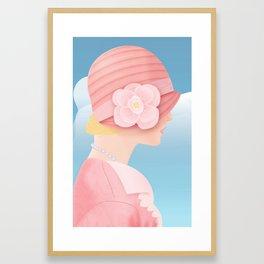 Edith on a Spring Day Framed Art Print