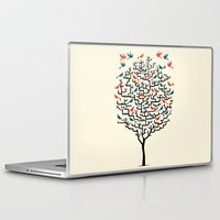 tree Laptop & iPad Skins featuring Out On a Lark by Oliver Lake