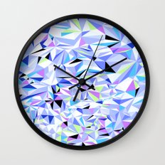 Periwinkle Polygons Wall Clock