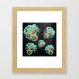 vampire Marylin blue Framed Art Print