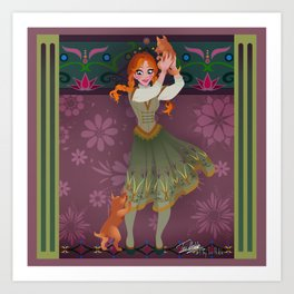 Frozen Anna Casual Art Print