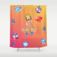 emoji Shower Curtains featuring Anaconda Emoji by jajoão