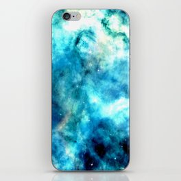 Ocean Blues Nebula galaxy iPhone Skin