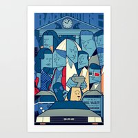 back to the future Art Prints featuring Back to the Future by Ale Giorgini
