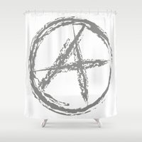 anarchy Shower Curtains featuring Anarchy by Collectivo 2