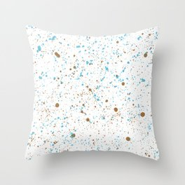 Splatter - Blue Olive Colorway Throw Pillow