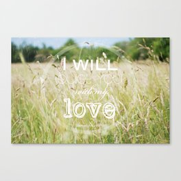 I will quiet you with my love Canvas Print