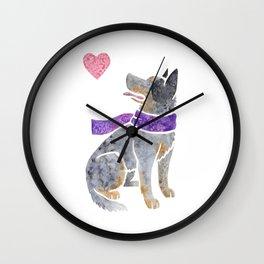 Watercolour Australian Cattle Dog Wall Clock