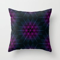 geode Throw Pillows featuring Geode by Matt Borchert