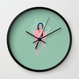 MOUTH FULL OF WHITE LIES Wall Clock