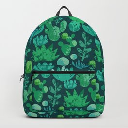 Watercolor succulents and cactus Backpack