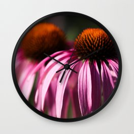 Echinacea In The Summertime Wall Clock