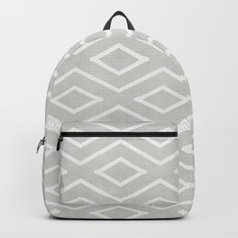 Stitch Diamond Tribal Print in Grey Backpack