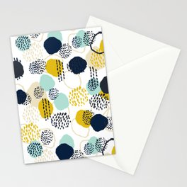 Jamm - abstract art painting brushstrokes modern minimal paint trendy colors hipster gender neutral  Stationery Cards