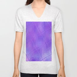 Re-Created Twisted SQ XXVI by Robert S. Lee Unisex V-Neck