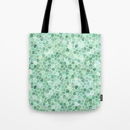 Muddled Puddles Pale Aqua Ocean Patchwork Tote Bag