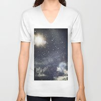 starry night V-neck T-shirts featuring Starry Night  by Jane Lacey Smith